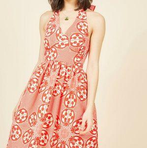 ModCloth Ladybug Sundress Haute Happenstance Red